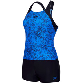 speedo Boom Allover Tankini Women Beautiful Blue/Black